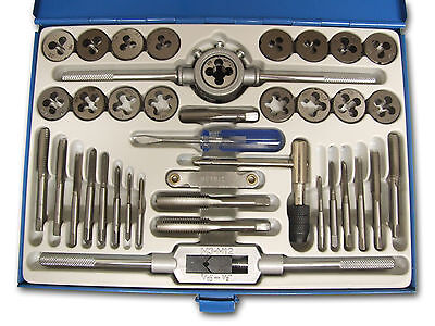 40 Piece Alloy Steel Metric Tap and Die Set