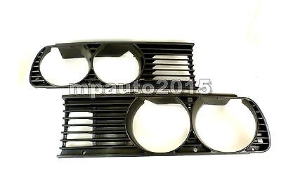 BMW 3 Series E30 1984-1991 2DR/4DR/5DR Black Front Side Grilles Pair EURO - type