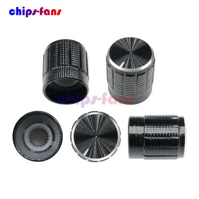 5PCS Useful Volume Control Rotary Knobs For 6mm Dia Knurled Shaft PotentiometerF
