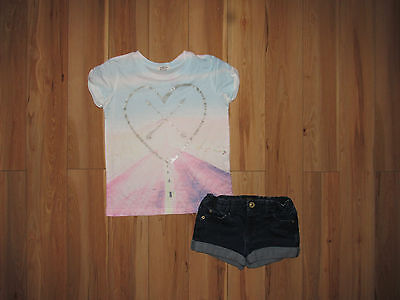 River Island, summer top and shorts set for girl 7-8 years.
