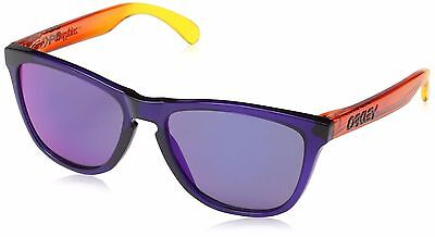 New OAKLEY FROGSKINS Surf Edition Purple Frame w/ Red Iridium Lens OO9013-45