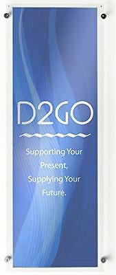 Displays2go Office Wall Sign with 1.3 Standoffs, 12 x 36-Inches, Clear Acrylic L