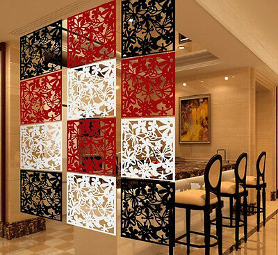Wall Sticker Hanging Screen Curtain 4pcs Butterfly  Room Divider Partition