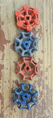 Vtg Water Valve Handles Knobs Steampunk Mixed Industrial Altered Art Lot of 4