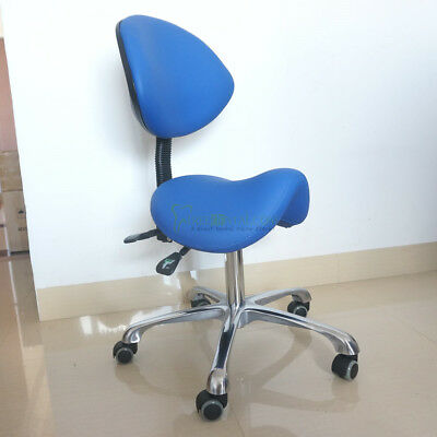 Crown Seating Dental Assistant Stool Saddle Style Seat with Microfiber Leather