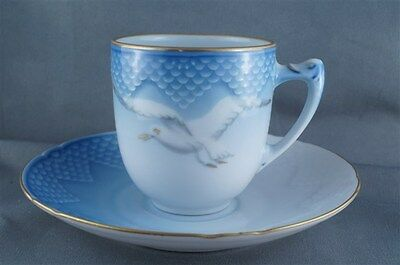 B and G Bing and Grondahl Seagull Flat Demi Tasse Cup and Saucer #461