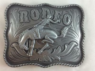 Belt Buckle - Metal - Cowboy/cowgirl - Silver Rodeo - Silver Tone - Brand New