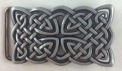 Belt Buckle-Metal- Celtic/viking Design - Silver Tone - Brand New