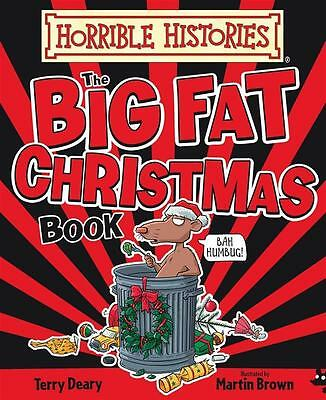 NEW The Big Fat Christmas Book By Terry Deary Hardcover Free Shipping