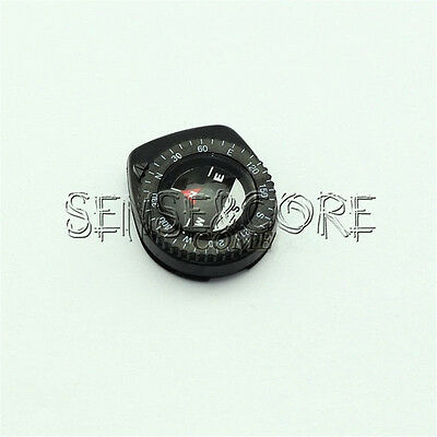 New Mini Clear Liquid-filled Compass w/ Clip for Outdoor Molle Backpack Pouches