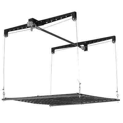 Racor PHL-1R Pro HeavyLift 4-by-4-Foot Cable-Lifted Garage Elevator Storage Rack