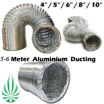 No Noise Dual Aluminum Layers Ducting 4 to12inch Kitchen Bathroom Grow Tent Duct
