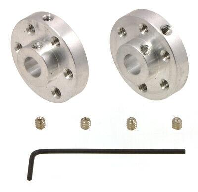 Pololu Universal Aluminum Mounting Hub for 1/4? Shaft, #4-40 Holes (2-Pack) 1993