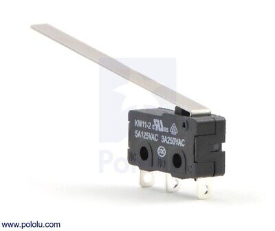 Pololu Snap-Action Switch with 50mm Lever: 3-Pin, SPDT, 5A 1403