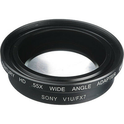 Century 0.55x Wide Angle Converter Lens for Sony HDR-FX7 & HDR-V1U HDV Cameras