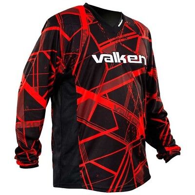 Valken Crusade Paintball Jersey - Hatch Red