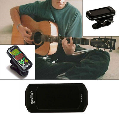 Mini Auto Guitar Tuner Chromatic Bass Violin Ukulele LCD Clip-on Electronic Hot