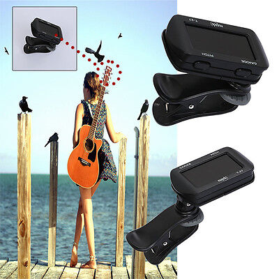 Guitar Tuner Clip-On Violin C D Ukulele Bass Electronic Digital LCD Display New