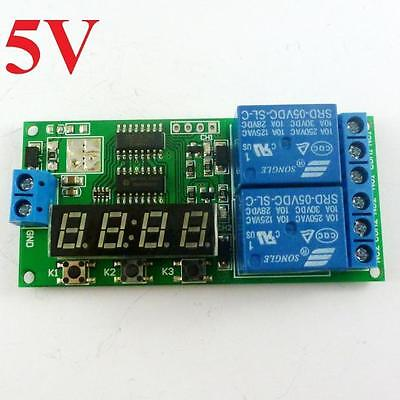 dc 5v Digital Relay Cycle Delay Timer Timing Switch LED motor reversing Control
