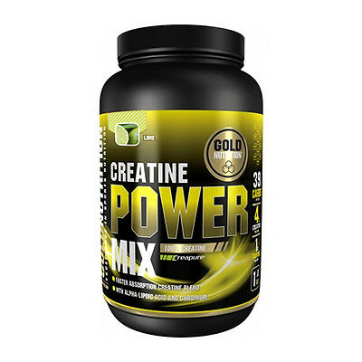 Creatina Creatine Power Mix 1 Kg Sabor Lima - Gold Nutrition