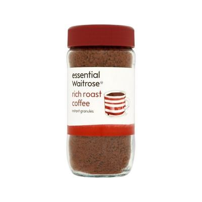 Rich Roast Coffee Granules essential Waitrose 100g