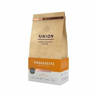 Union Coffee Organic Light Roast Cafetiere Grind - Yirgacheffe Ethiopia 200g