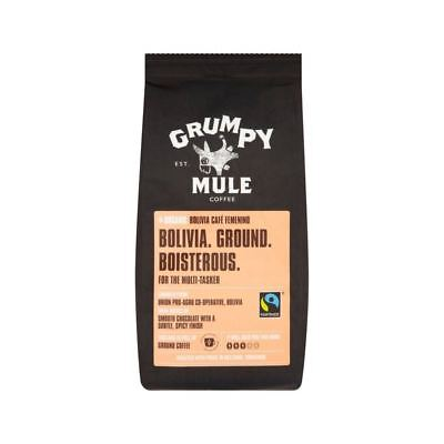 Grumpy Mule Organic Bolivia Fairtrade Ground Coffee 227g