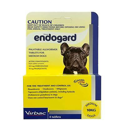 Endogard Broad Spectrum All Wormer for Medium Dogs up to 10kg (Yellow Box) - 4-P