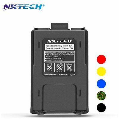 NKTECH 1800mAh Li-ion Battery For BaoFeng UV-5R V2+ UV-5RE Plus F8 Two Way Radio