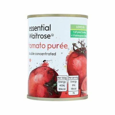 Double Concentrated Italian Tomato Puree essential Waitrose 140g • AUD 2.25