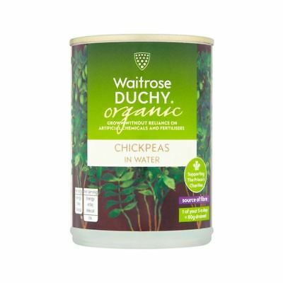 Duchy Waitrose Organic Chick Peas in Water 410g