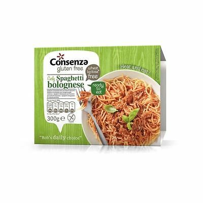 Consenza Gluten Free Spaghetti Bolognese Ready Meal 300g