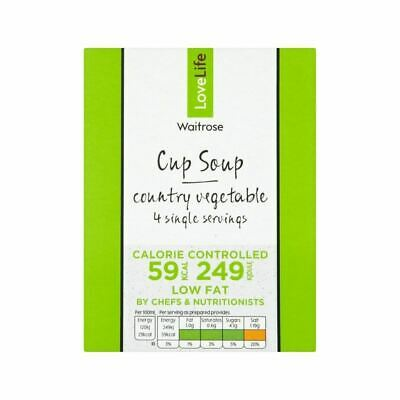 You Count Country Vegetable Cup Soup Waitrose Love Life 4 x 16.5g