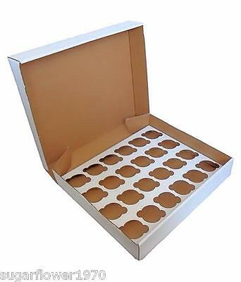 24 hole Cupcake box with insert x 5  muffin strong box NEXT DAY DESPATCH