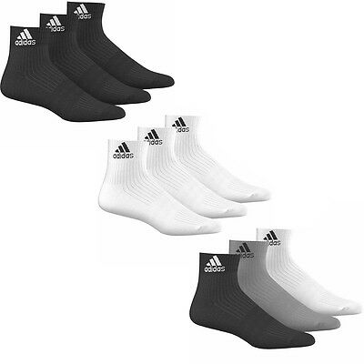 adidas Performance Ankle Half Cushioned Sport Trainer Socks 3 pack