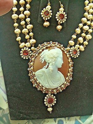 High  Relief Cameo Set Extraordinerre  A  Must  See  Outstanding  &  Elegant