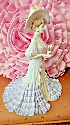 """lady  Elizabeth""   Coalport  Masterpiece  Figurine  Holding  Teacup  Excellent"