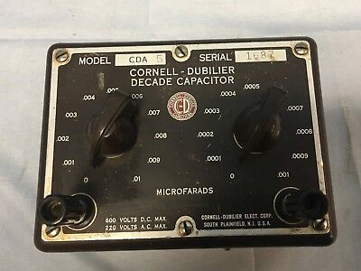 Cornell-Dubilier CDA-5 Decade Capacitor 100pF-1nF & 1nF-10nF