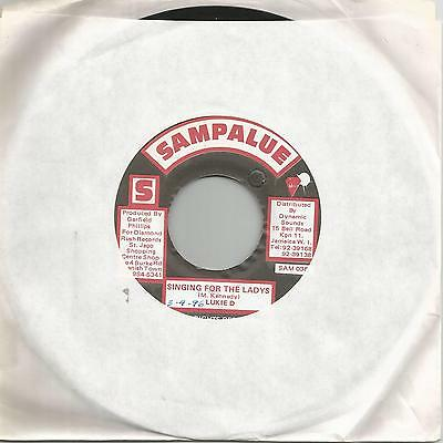 "Lukie D - Singing For The Ladys (Sampalue) Reggae 7"" Vg+"