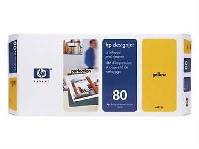 New Genuine HP 80 Yellow and Cleaner C4823A NO BOX but Sealed Foil Bags 2010