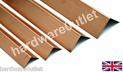 Copper Folded Angle Corner Protector 0.9mm - 10 Sizes & 15 Lengths available