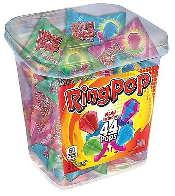 Ring Pop Assorted Jar 44 Count Individually Wrapped Ring Pops Gluten Free