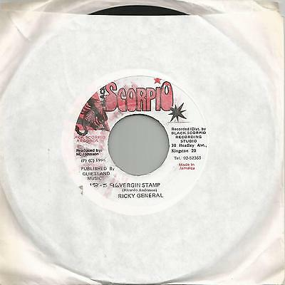 "Ricky General - Vergin Stamp (Scorpio) Reggae 7"" Vg+"