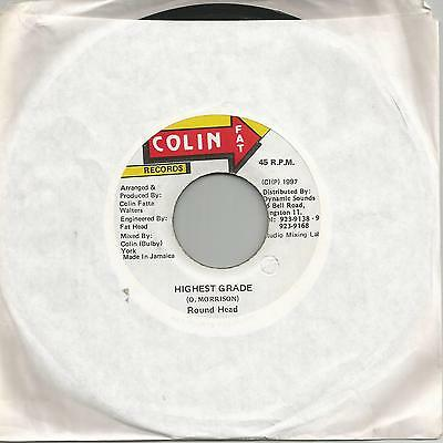 "Round Head - Highest Grade (Colin Fat Records) Reggae 7"" Vg+"