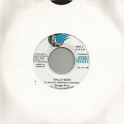 "Spragga Benz - Rally Back (Studio 2000) Reggae 7"" Vg+"