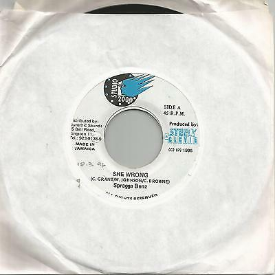 "Spragga Benz - She Wrong (Studio 2000) Reggae 7"" Vg+"