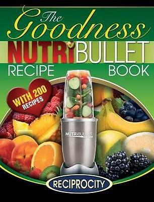 NEW Nutribullet Goodness Recipe Book By Marco Black Paperback Free Shipping