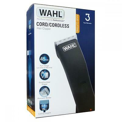 Wahl Mens Rechargeable Cord Cordless Hair Beard Clipper Trimmer Set 9655-417