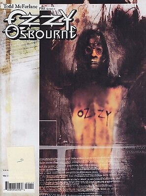 Todd McFarlane Presents Ozzy Osbourne Magazine Black Sabbath Toy ad Comics
