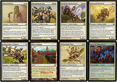 MTG Kithkin (White) Deck - Kinsbaile Borderguard, Thoughtweft - Magic Gathering
